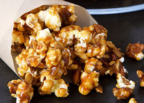 small bag of maple chipotle popcorn